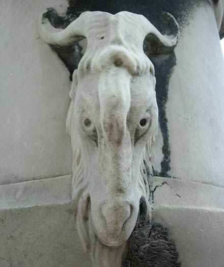 A demon that became a bakra that became a statue