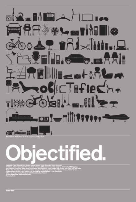 Poster of the documentay film, Objectified